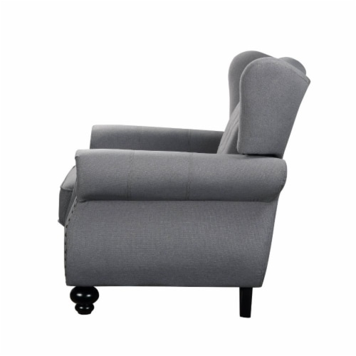 Ergode Loveseat w/2 Pillows Gray Fabric Perspective: back