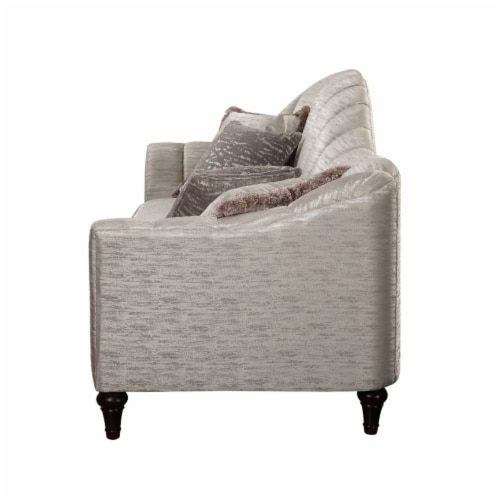 Ergode Loveseat w/3 Pillows Shimmering Pearl Perspective: back