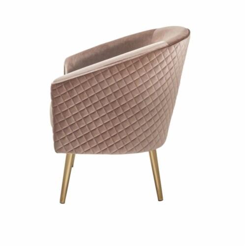Ergode Accent Chair Velvet & Gold Perspective: back