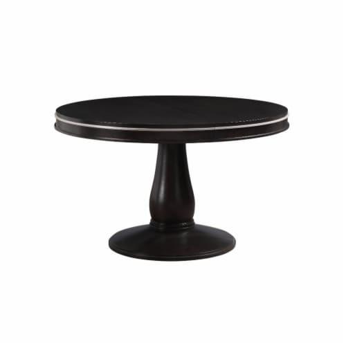 Ergode Dining Table (Pedestal) Espresso Perspective: back