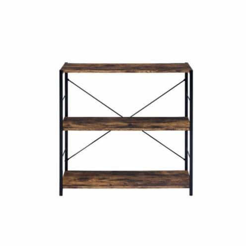Ergode Bookshelf Weathered Oak & Black Finish Perspective: back