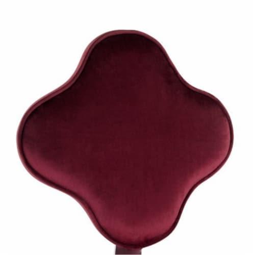 Ergode Office Chair Red Velvet Perspective: back