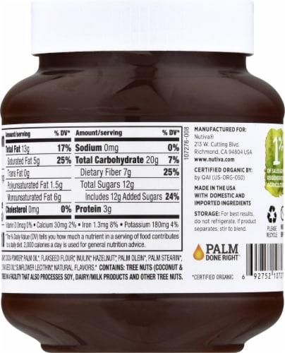 Nutiva® Chocolate Hazelnut Spread Perspective: back
