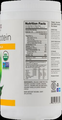 Nutiva Organic Vanilla Hemp Seed Protein Powder Perspective: back