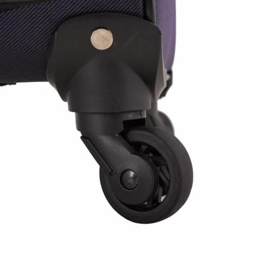 U.S. Traveler Esther Expandable Spinner Luggage Set - Purple Perspective: back