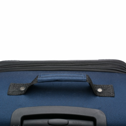 U.S. Traveler Esther 3-Piece Expandable Spinner Luggage Set - Navy Perspective: back