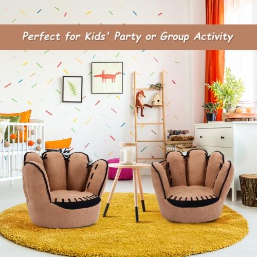 Costway Kids Sofa Five Finger Armrest Chair Couch Children Living Room Toddler Gift Perspective: back