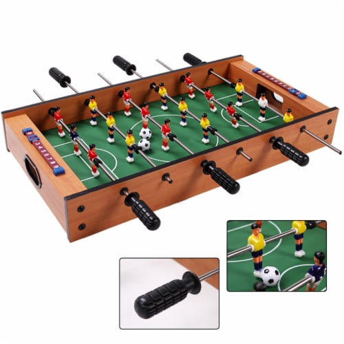 Costway 2 In 1 Table Game Air Hockey Foosball Table Christmas Gift For Kids In/Outdoor Perspective: back