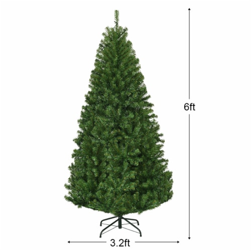Costway 6Ft Pre-Lit Artificial Christmas Tree Hinged 350 LED Lights Perspective: back