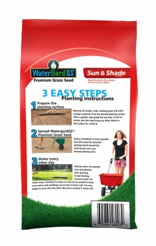 Mountain View Seeds WaterGard Sun and Shade Premium Grass Seed Mixture Perspective: back