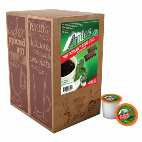Andes Chocolate Mint Flavored Coffee Pods for Keurig K-Cups Brewer, 40 Count Perspective: back