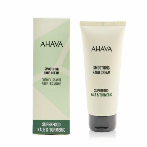 Ahava Superfood Kale & Turmeric Smoothing Hand Cream 100ml/3.4oz Perspective: back