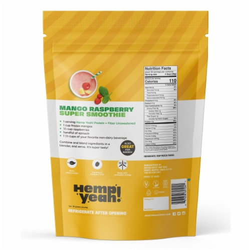 Manitoba Harvest Hemp Pro 50 Protein Supplement Perspective: back