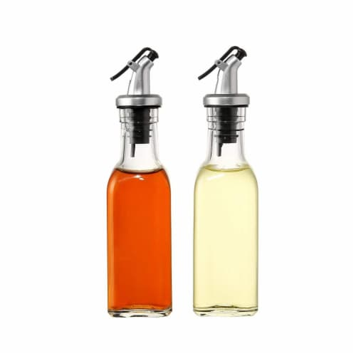 Oil and Vinegar Bottles Cruets Dispensers - 150ml - Set of 2 Perspective: back