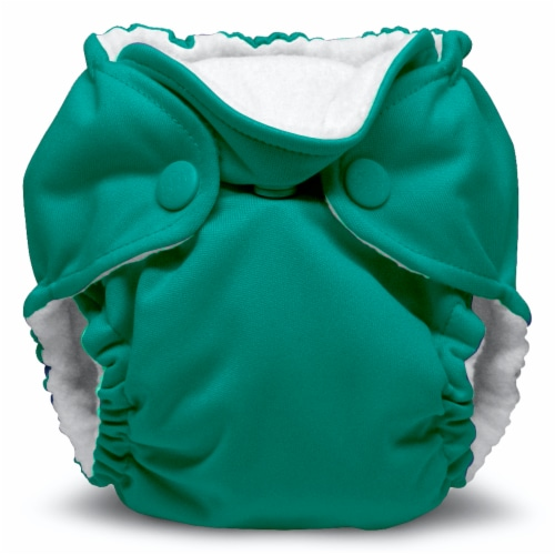 Kanga Care Lil Joey Newborn All in One AIO Cloth Diaper (2pk) Peacock 4-12lbs Perspective: back