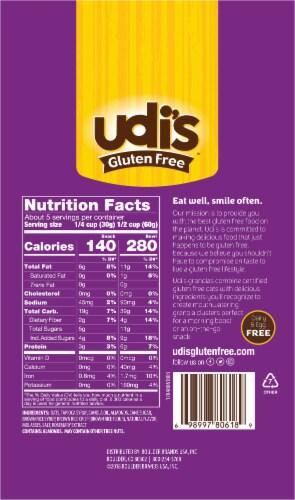Udi's Gluten Free Vanilla Granola Perspective: back