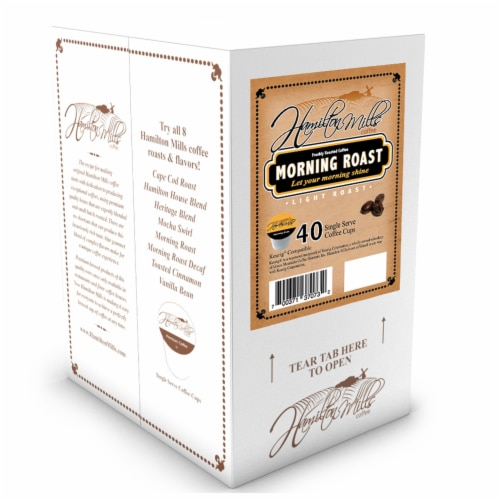 Hamilton Mills Morning Roast Coffee Pods, 2.0 Keurig K-Cup Brewer Compatible, 40 Count Perspective: back