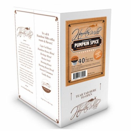 Hamilton Mills Pumpkin Spice Coffee Pods, 2.0 Keurig K-Cup Brewer Compatible, 40 Count Perspective: back