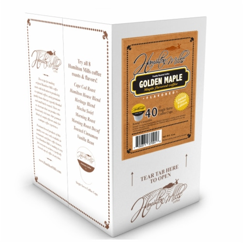 Hamilton Mills Golden Maple Coffee Pods, 2.0 Keurig K-Cup Brewer Compatible, 40 Count Perspective: back