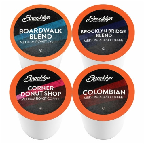 Brooklyn Beans Medium Roast Coffee Pods Variety Pack for Keurig K-Cups Brewer, 40 Count Perspective: back