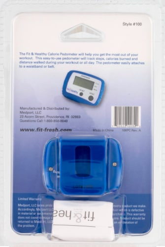 MEDport Fit and Healthy Calorie Pedometer Perspective: back