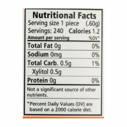 Spry Xylitol Gems - Cinnamon - 240 Count Perspective: back