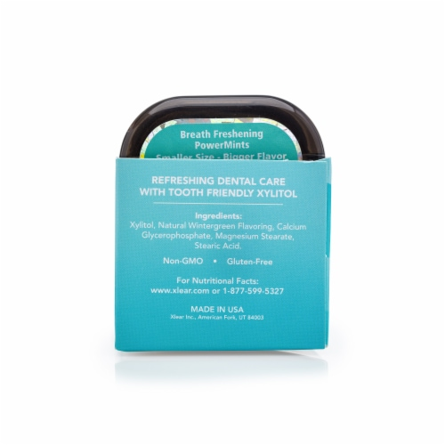 Spry Extra Strong Natural Wintergreen PowerMints Perspective: back