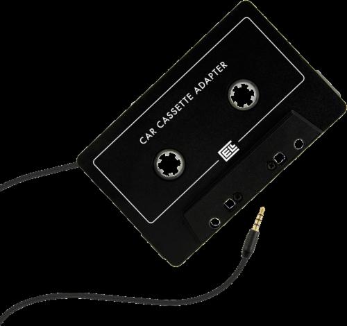 ZGear 3.5mm Audio Cassette Adapter - Black Perspective: back