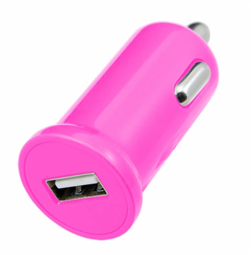 CELLCandy Low-Profile USB Car Charger - Shocking Pink Perspective: back