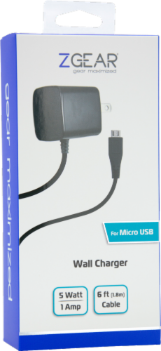ZGear Micro USB Wall Charger - Black Perspective: back