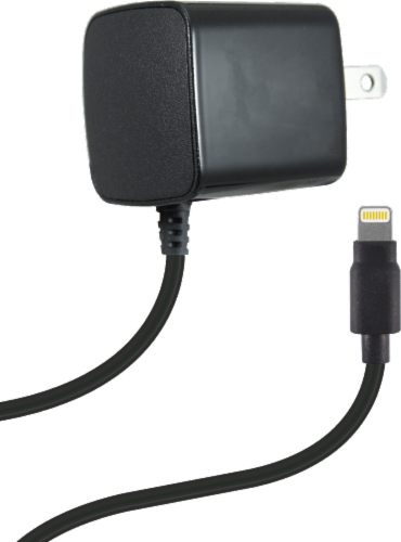 ZGear Lightning Cable Wall Charger - Black Perspective: back