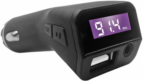 ZGear FM Transmitter and USB Car Charger - Black Perspective: back
