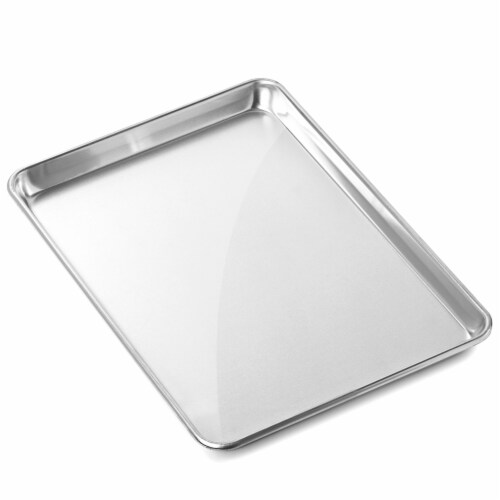 6 Pans Commercial Grade Aluminum Cookie Sheets by GRIDMANN Perspective: back