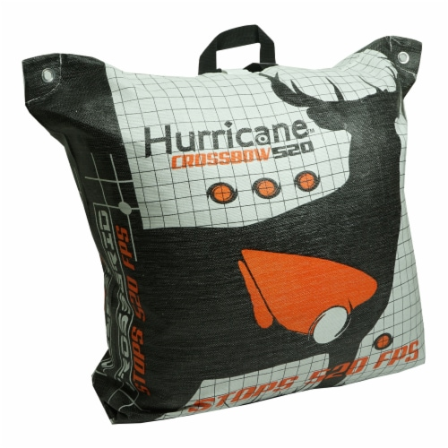 Hurricane H60410 Double Sided 460 FPS Woven Crossbow Archery Bag Target, White Perspective: back