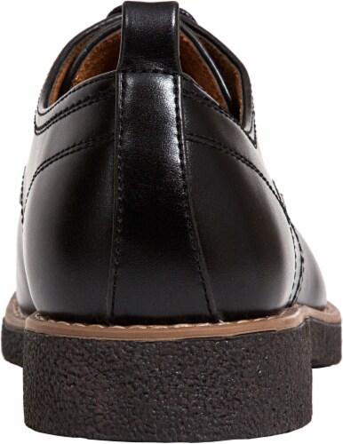 Deer Stags Highland Men's Plain Toe Oxfords - Black Perspective: back