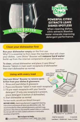 Lemi Shine® Detergent Booster Tablets Perspective: back