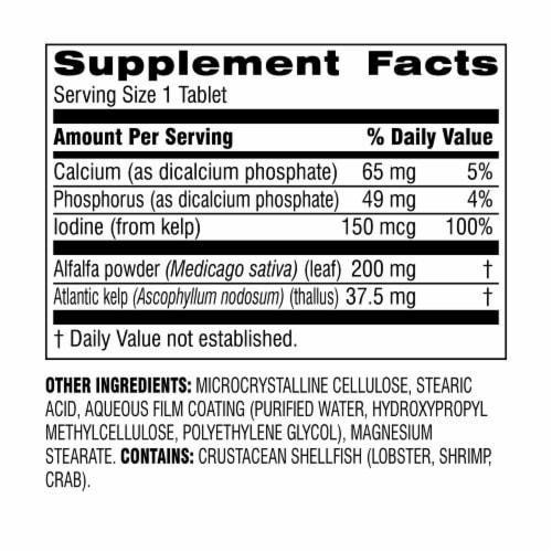 Botanic Choice  Kelp/Alfalfa Green Foods Herbal Supplement Perspective: back
