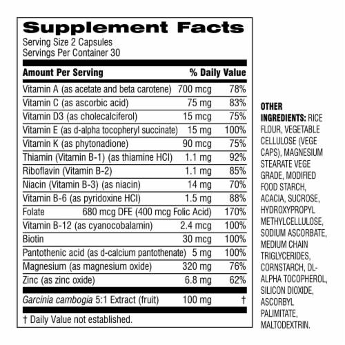 Botanic Choice  START! Multi-Vitamin + Weight Dietary Supplement Perspective: back