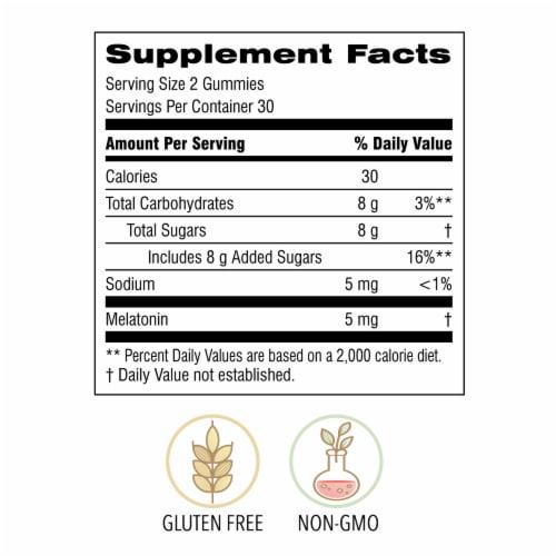 Botanic Choice  Melatonin Gummy Sleep Dietary Supplement Perspective: back