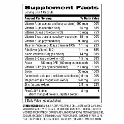 Botanic Choice  START! Multi-Vitamin + Vision Dietary Supplement Perspective: back
