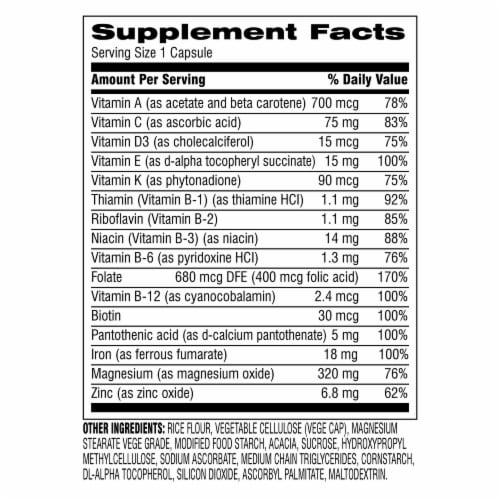 Botanic Choice  START! Multi-Vitamin for Women Dietary Supplement Perspective: back