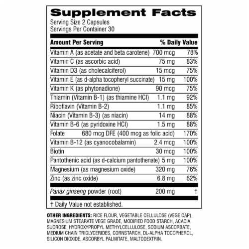 Botanic Choice  START! Multi-Vitamin + Energy Dietary Supplement Perspective: back