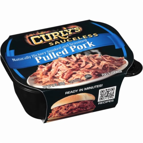 Curly's Sauceless Hickory Smoked and Seasoned Pulled Pork Perspective: back