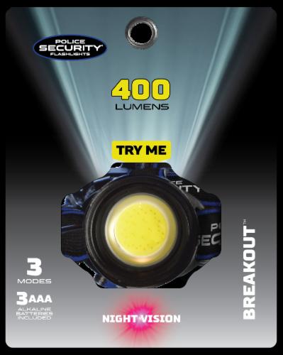 Police Security Bright Bundle Breakout Headlamp & Barricade Flashlight Perspective: back