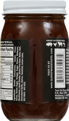 Two Fat Guys Smoky Bbq Sauce Perspective: back