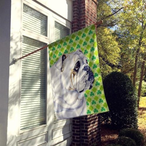 Carolines Treasures  LH9184-FLAG-PARENT Bulldog English St. Patrick's Day Shamro Perspective: back