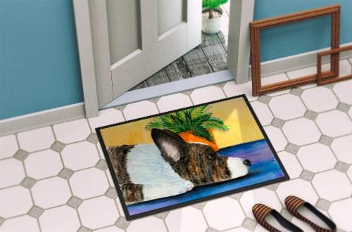 Carolines Treasures  SS8190MAT Corgi Indoor Outdoor Mat 18x27 Doormat Perspective: back