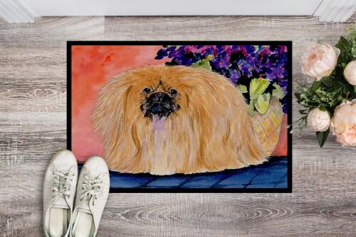 Carolines Treasures  SS8661MAT Pekingese Indoor Outdoor Mat 18x27 Doormat Perspective: back