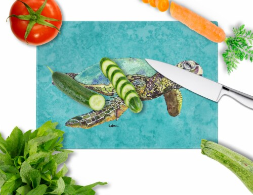 Carolines Treasures  8659LCB Turtle  Glass Cutting Board Large Perspective: back