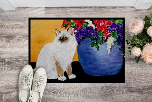 Carolines Treasures  SS8604MAT Cat - Ragdoll Indoor or Outdoor Mat 18x27 Doormat Perspective: back